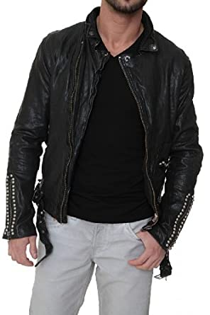 true religion herren lederjacke biker leather jacket black farbe schwarz gr e s. Black Bedroom Furniture Sets. Home Design Ideas