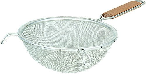 Browne Foodservice 9195 Medium Single Mesh Strainer With Wood Handle, 6-3/4-Inch