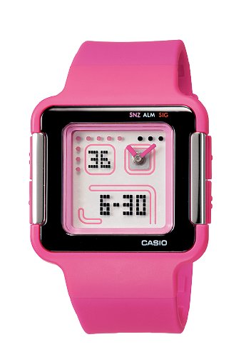 Casio Women's LCF20-4 Ana-Digi Retro Square Sports Watch