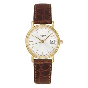 Amazon.com: Tissot Desire Brown Leather Silver Dial Women's Watch #T52