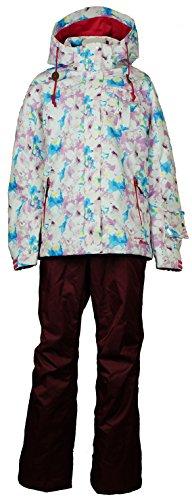 オンヨネ(ONYONE) レディース スキースーツ RUS87021 ピンク×ボルドー Lサイズ