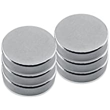"Neodymium, Rare Earth Magnet Discs, Nickel Plate,0.472"" Diameter, 0.118"" Thick, 4.5 Pounds(Pack of 6)"
