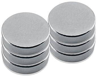 """Neodymium Rare Earth Magnet Discs, 0.472"""" Diameter, 0.118"""" Thick"""