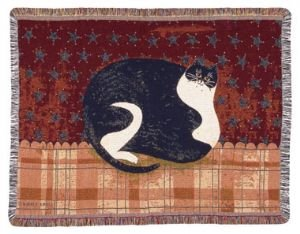 Fat Cat Warren Kimble Throw Blanket Afghan Kitten New