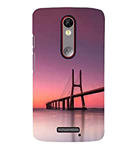SUSPENSION SEA LINK AT SUNSET 3D Hard Polycarbonate Designer Back Case Cover for Motorola Moto X Force