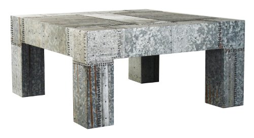Fine Zentique 1023 Patched Recycled Metal Coffee Table Cheap Low Customarchery Wood Chair Design Ideas Customarcherynet
