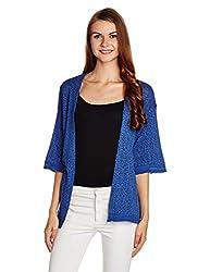 People Women's Cotton Blouson Jacket (P10201112260161_Navy_Medium)