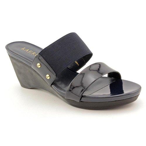 Ralph Lauren Women'S Rhianna Wedge Heels In Modern Navy Size 9