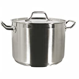 60 Qt Stock Pot W/Lid Stainless Steel Commercial Grade -NSF Certified- *Professional Quality*