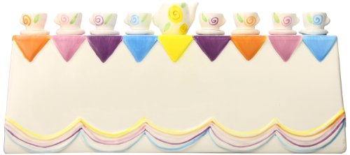 Gift Mark Themed Menorah, Teacup - 1