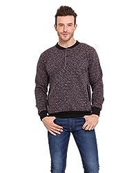 Western Vivid Black Coloured Fleece Slub Sweat Shirt Small