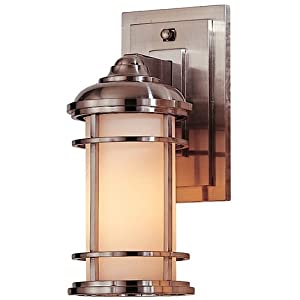 Murray Feiss MF OL2200 1 Light Outdoor Wall Sconce from the Lighthouse Collectio, Brushed Steel