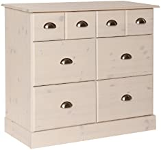NJA Furniture Terra Commode 6 tiroirs Blanc 79 x 92 x 39 cm