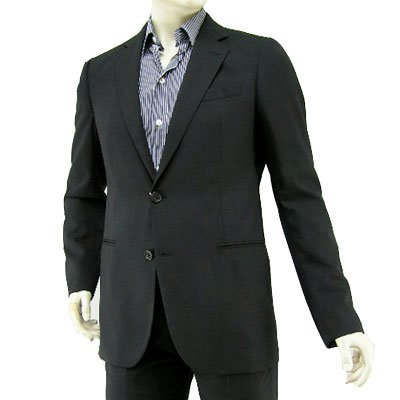 アルマーニ コレッツォーニ メンズ スーツ MCVMAB-MC062-001 ブラック(並行輸入品)14AW (48, ブラック)