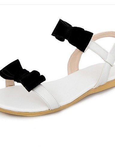 LFNLYX Scarpe Donna-Sandali-Tempo libero / Casual-Decolleté con cinturino-Piatto-Scamosciato-Bianco / Tessuto almond , white , us8.5 / eu39 / uk6.5 / cn40