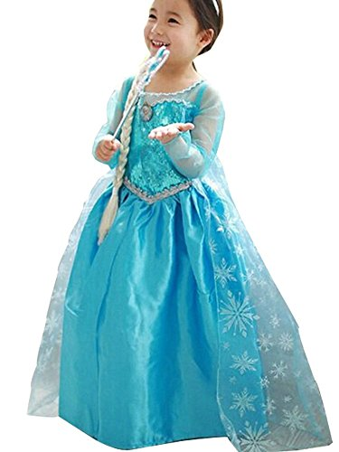 CXFashion Elsa Baby Girls Toddlers Princess Party Dress Up Costume Anna (2/3Years)