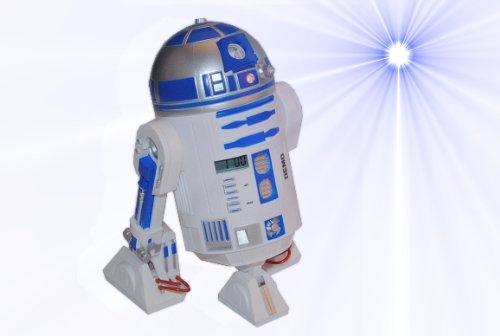 Kinderwecker Star Wars – R2 D2 mit Sound / Stimme und Zeitprojektion – ROT oder BLAU online bestellen