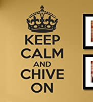 KCCO keep calm and chive on Vinyl Wall Decals Quotes Sayings Words Art Decor Lettering Vinyl Wall Art Inspirational Uplifting by SA
