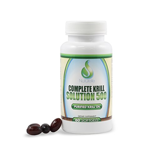 Complete krill solution 500mg 60 softgels of purified for Is krill oil better than fish oil