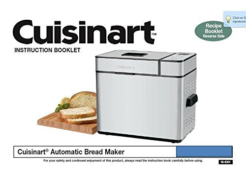 Cuisinart Bread Machine Manual & Recipes (Model: CBK-200) [Plastic Comb] Brea... (Bread Machine Cbk200 compare prices)