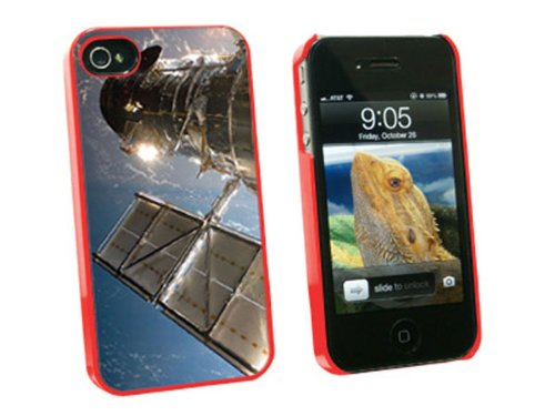 Graphics And More Hubble Telescope - Astronomy Space - Snap On Hard Protective Case For Apple Iphone 4 4S - Red - Carrying Case - Non-Retail Packaging - Red