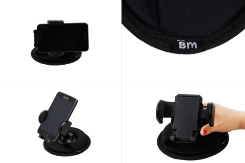 Bundle Monster Car Adjustable Friction Mount for GPS, Iphone, Cell Phone, Kindle Fire, and etc.