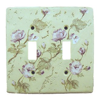ROSE floral light SWITCH PLATE COVER wall home decor (Floral Wall Switch Covers compare prices)