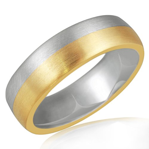 Goldmaid Herren-Ring Gold 333 Bicolor Gr. 54 Pr R4205BI54