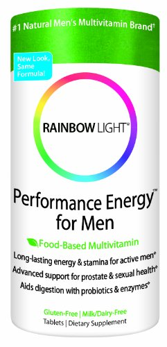 Rainbow Light Performance Energy Multivitamin for Men, Multivitamin Supplement Tablets, 180 tablets