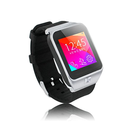 Oneisall(Tm) S28 Bluetooth Smart Watch Phone Wristwatch 1.54Inch Touch Screen Sim For Android Smartphone