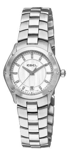 Ebel Classic Sport Femme 27mm Date Saphir Verre Montre 9953Q21-163450