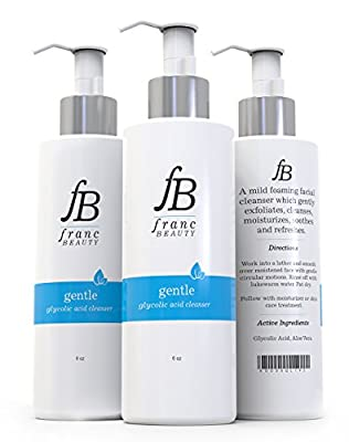 BEST GLYCOLIC ACID CLEANSER, Perfect Skin Care Routine to Reduce Wrinkles, Hyperpigmentation, Large Pores, & Fines Lines, Gentle Formula for Acne Treatment Wash & Scar Removal, Radiate Beautiful Skin!