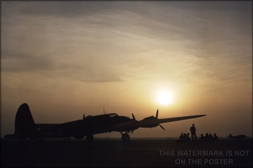 B-17 Flying Fortress at Sunset, Langley Field, June 1942 - 24