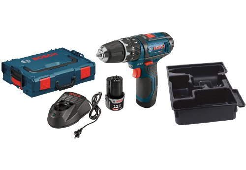 Bosch SCK120-202LB8 12-Volt Starter Kit with Bare-Tool Hammer Drill/Driver Bundle Kit
