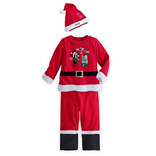 Disney - Mickey Mouse Santa Suit for Baby - Size 18 to 24 Months - New