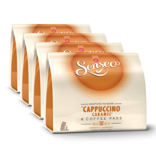 Senseo Cappuccino Caramel, New Design, Pack of 4, 4 x 8 Coffee Pods
