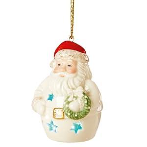 Lenox Pierced Lit Santa Ornament