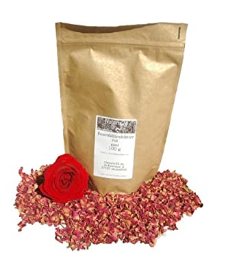 Naturix24 - Rosenblütenblätter rot - 100g Beutel von Holger Senger Naturrohstoffe - Gewürze Shop