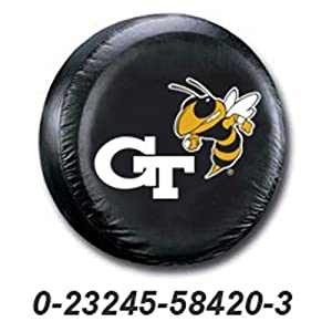 Georgia Tech Yellowjackets NCAA Spare Tire Cover by Fremont Die (Black) by Fremont Die