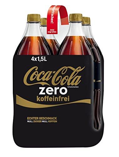 Coca-Cola zero koffeinfrei Einweg, 4er Pack (4 x 1.5 l)
