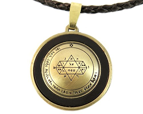 Visionary Power Seal of Solomon Necklace, Leather, Adjustable (Seal Necklace compare prices)