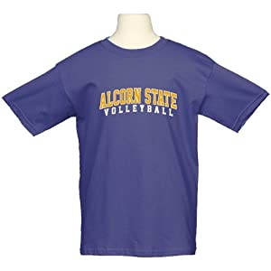 Alcorn State Youth Purple T-Shirt-Large, Volleyball