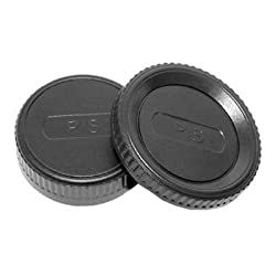 JJC L-R4 Body Cap and Rear Lens Cap for Pentax K Mount Lens/Camera