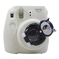 [Fujifilm Instax Mini 8 Selfie Lens] - Lalonovo Owl Style Instax Close Up Lens with Self-portrait Mirror For Fujifilm Instax Mini 8 Camera and Polaroid 300 Camera (Black)