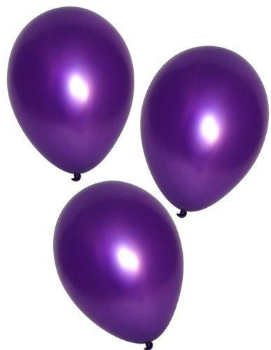Fun Express Purple Metallic Balloons (144 Pieces)