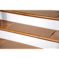 Dean DIY Peel and Stick Serged Non-Skid Carpet Stair Treads - Golden Camel (13) 27