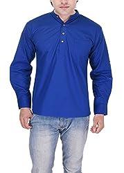 Padam Men's Cotton Kurta_PMKR0002_Royal Blue_XL