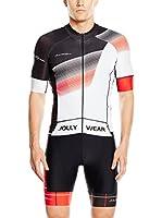 JOLLYWEAR Maillot Ciclismo Criterium (Negro / Blanco)