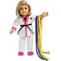 Karate Outfit For American Girl Dolls - Handmade - Includes Uniform Shirt Headband Shoes And Belts