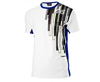 HEAD Boy's Reflector T-Shirt - White/Electric Blue, Small